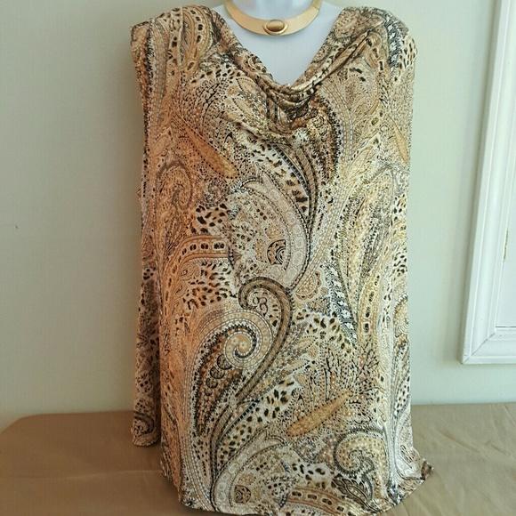 Dress Barn Tops - Beautiful Sexy Gold & Black blouse size 3x…